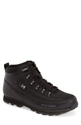 Men's Helly Hansen 'The Forester' Water Repellent Leather Boot Jet Black
