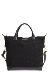 Want Les Essentiels 'Mirabel' Wool And Leather Tote Black Carbon Boucle Jet Black