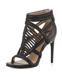 Bcbgmaxazria Dori Braided Leather Sandal Black