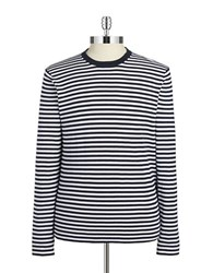 Michael Kors Striped Cotton Sweater White