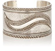 Mahnaz Collection Vintage Women's Sterling Silver Wide Band Cuff Color Colorless