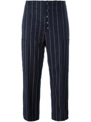 Dondup 'Mery Loo' Cropped Trousers Blue