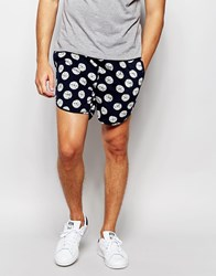 Asos Chino Shorts With Polka Dot Indigo Pattern