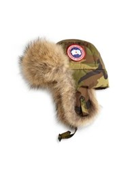 Canada Goose Fur Lined Hat Military Green