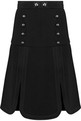 Peter Pilotto Tessel Scalloped Wool Crepe Mini Skirt Black
