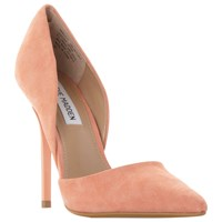 Steve Madden Varcityy Cut Out Upper Court Shoes Orange Suede