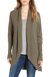 Leith Women's Shawl Collar Cocoon Cardigan Olive Sarma Heather