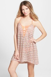 Reef 'Summer Breeze' Strappy Crochet Cover Up Juniors Orange
