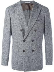 Brunello Cucinelli Double Breasted Blazer Grey