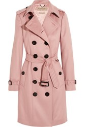 Burberry London The Sandringham Cashmere Trench Coat Blush