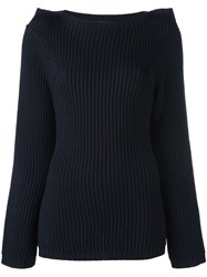 Societe Anonyme 'Scarf' Pullover Blue