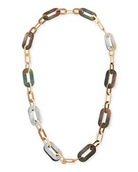 Vhernier Mixed Mother Of Pearl Link Necklace In 18K Rose Gold