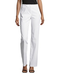 Escada High Waist Wide Leg Pants White
