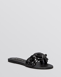 Jeffrey Campbell Open Toe Flat Slide Sandals Easy Rose