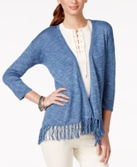 American Living Fringe Solid Sweater Cardigan Only At Macy's