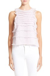 Women's L'agence 'Charisse' Tiered Ruffle Cotton And Silk Top