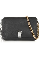 Proenza Schouler Ps Courier Small Textured Leather Shoulder Bag Black