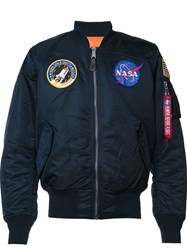 Alpha Industries 'Nasa Ma 1' Flight Jacket Blue
