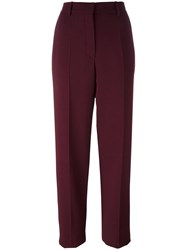 Nina Ricci Creased Straight Trousers Red