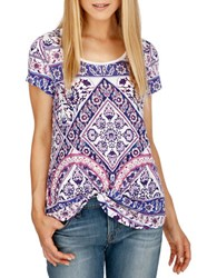 Lucky Brand Short Sleeve Printed T Shirt Bright White