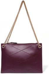 Lanvin Sugar Small Quilted Leather Shoulder Bag Grape
