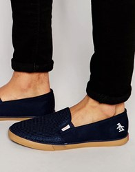 Original Penguin Slip On Pimsolls Navy