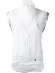 Adidas By Stella Mccartney 'Adizero' Gilet White