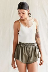 Urban Renewal Recycled Surplus Dolphin Short Green