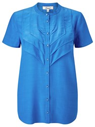 Alice By Temperley Somerset By Alice Temperley Pleat Front Blouse Blue