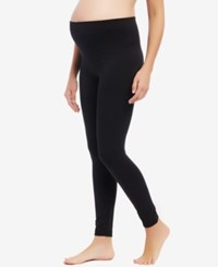 Motherhood Maternity Fleece Leggings Black