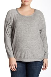 Harlowe And Graham Crew Neck Pullover Sweater Plus Size Gray