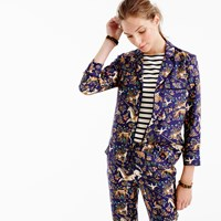 J.Crew Collection Drake's For Pajama Top In Midnight Unicorn