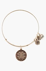 Women's Alex And Ani 'Four Leaf Clover' Expandable Wire Bracelet Silver