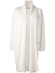 Vince Long Knitted Cardigan White