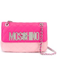 Moschino Quilted Shoulder Bag Pink And Purple