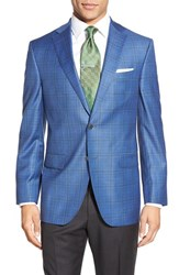 Men's David Donahue Classic Fit Tonal Plaid Wool Sport Coat