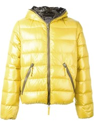 Duvetica Glossy Padded Jacket Yellow And Orange