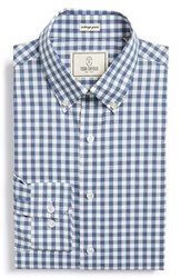 Men's Big And Tall Todd Snyder White Label Trim Fit Check Dress Shirt Blue Haze