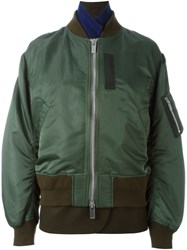 Sacai Layered Bomber Jacket Green