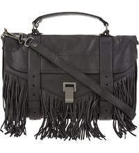 Proenza Schouler Fringe Leather Satchel Black