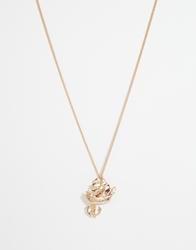 And Mary Necklace With Boat And Anchor Charm Goldplate