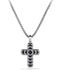 David Yurman Frontier Cross Necklace On Chain Silver