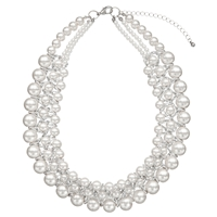John Lewis Faux Pearl Collar Necklace White