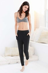 Out From Under Slouchy Drop Crotch Sweatpant Black