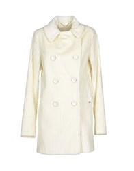 Roy Rogers Roy Roger's Coats And Jackets Coats Women Ivory