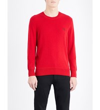 Burberry Crewneck Cashmere Jumper Military Red