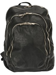 Guidi Multiple Pockets Backpack Black