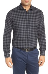 Luciano Barbera Men's Gingham Sport Shirt