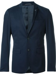 Michael Kors Two Button Blazer Blue