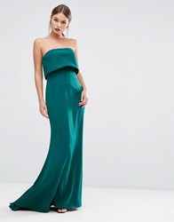 Jarlo Double Layer Strapless Dress Green
